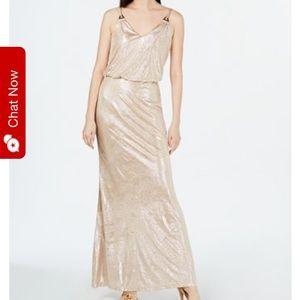 Gold Calvin Klein Maxi gown
